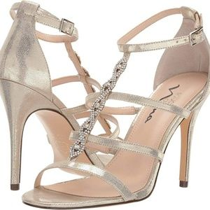 Touch of Nina Gold Strappy Sandals-9.5M